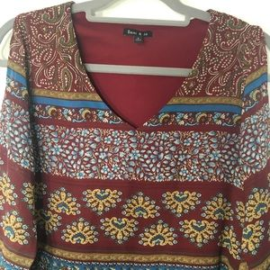 Sami &Jo Boho Style Slit Sleeve Dress Size S